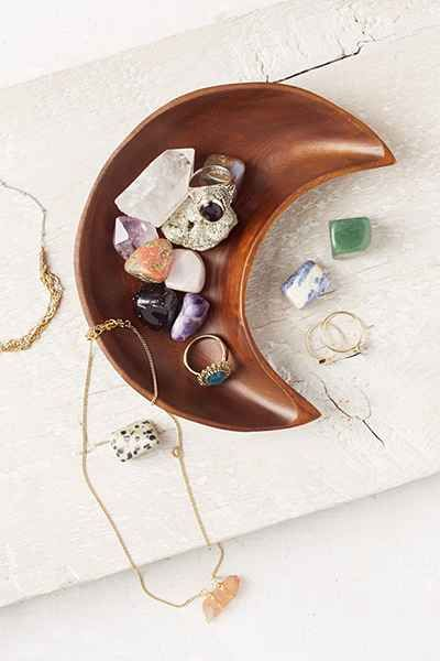 these gemstones remind me of AZ <e Crescent Moon Catch-All Dish - Urban Outfitters