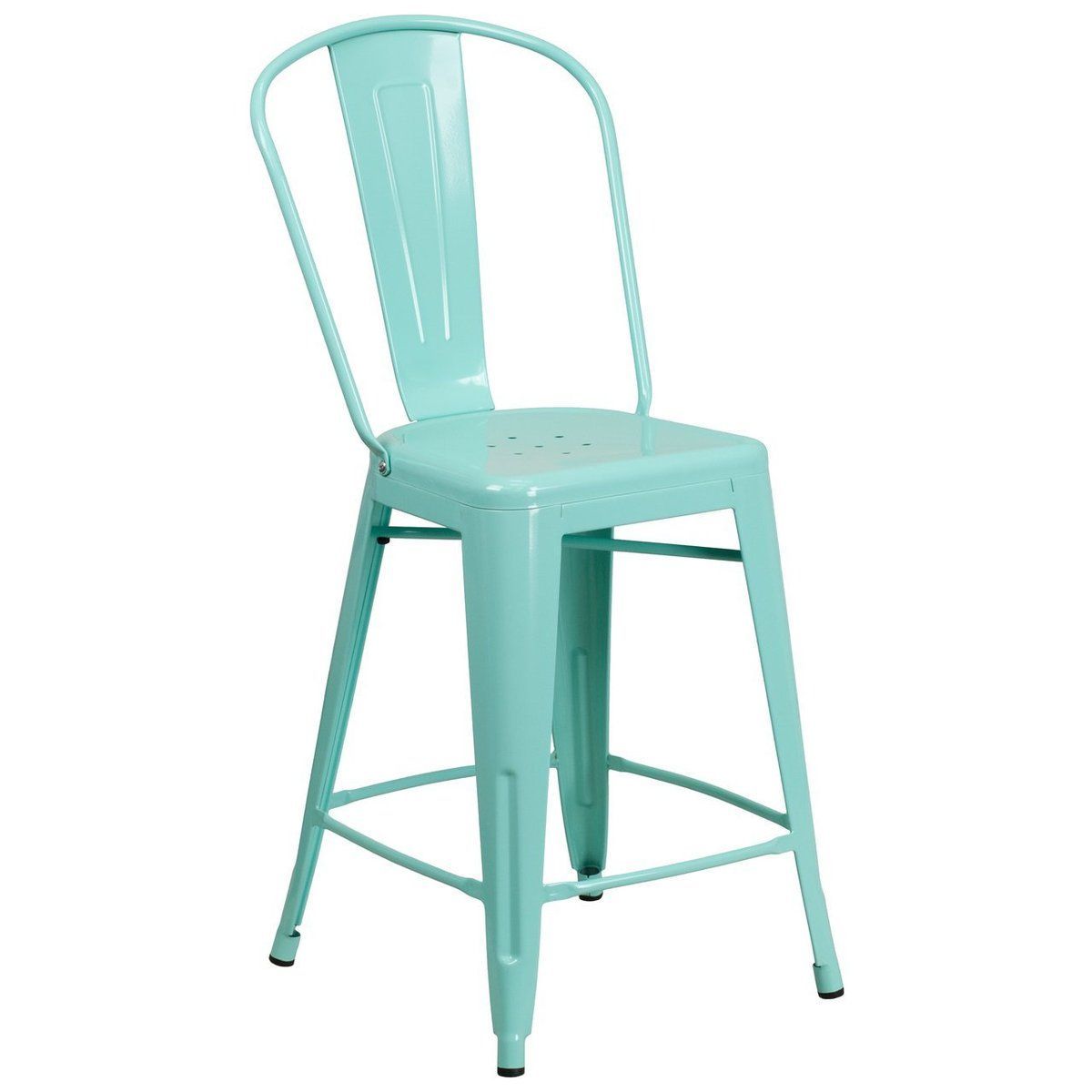 The High Back Bistro Style Counter Stool Will Give Your Dining Room Or Bar Decor A Cool Retro Vintage Fee In 2020 Counter Height Stools Outdoor Stools Flash Furniture