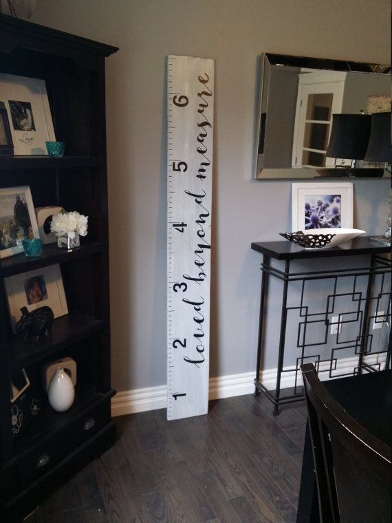Loved Beyond Measure Grey Hand Painted Wooden Growth