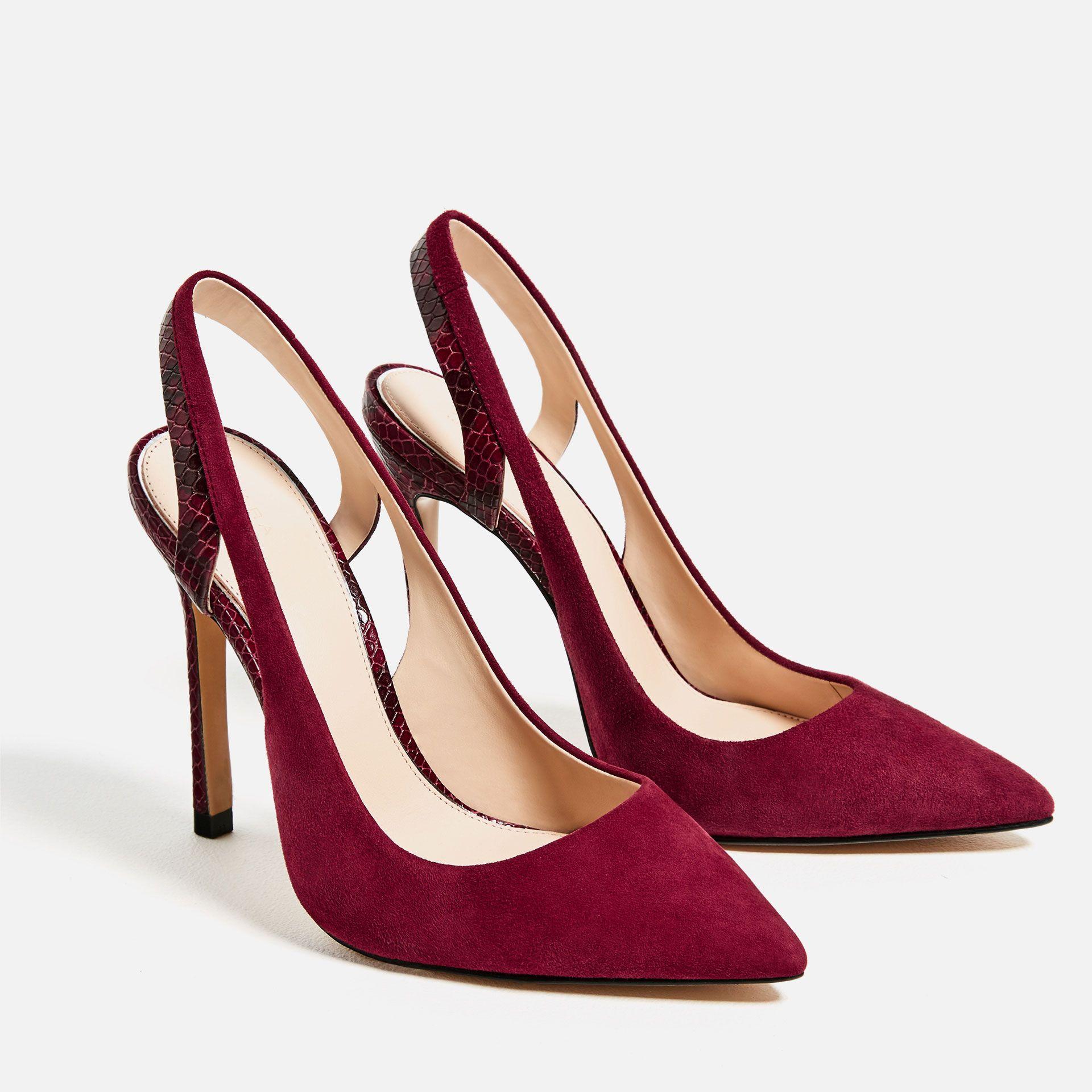 601e9f08c8 Zapato de tacón destalonado, Zara. | Complementos para invitadas ...