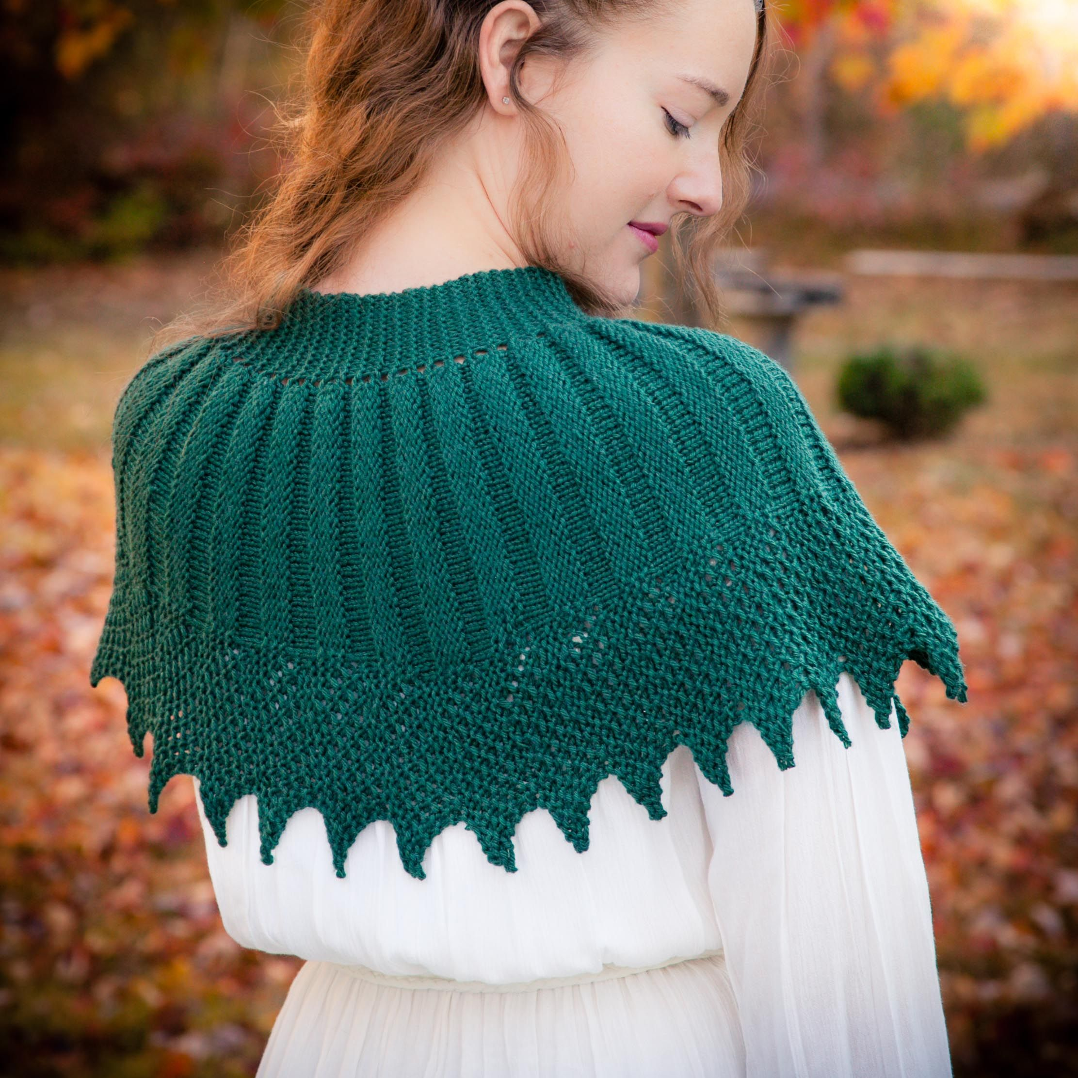Loom knit cape pattern, capelet, shawl, poncho, wrap, victorian ...