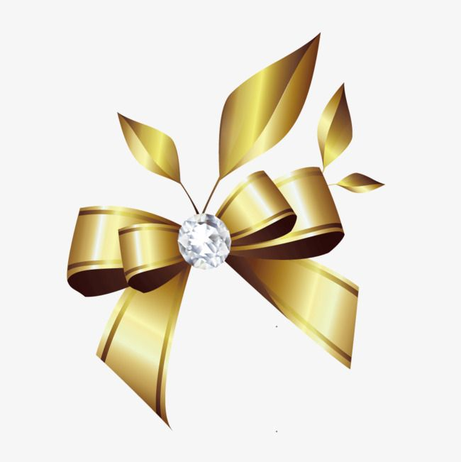 Vector Diamond Bow Bow Clipart Golden Ribbon Bow Png Transparent Clipart Image And Psd File For Free Download Diamond Vector Floral Border Design Overlays Transparent Background