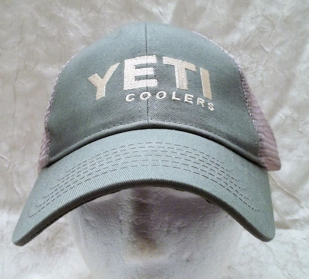 Yeti Coolers Truckers Hat Adjustable Strap Cap Olive   Beige Mesh New with  Tag  Yeti 76fe3b20573