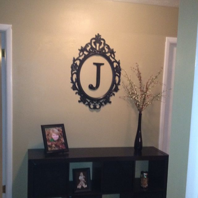 Hallway Decor Picture Frame Without Glass And A Letter In The