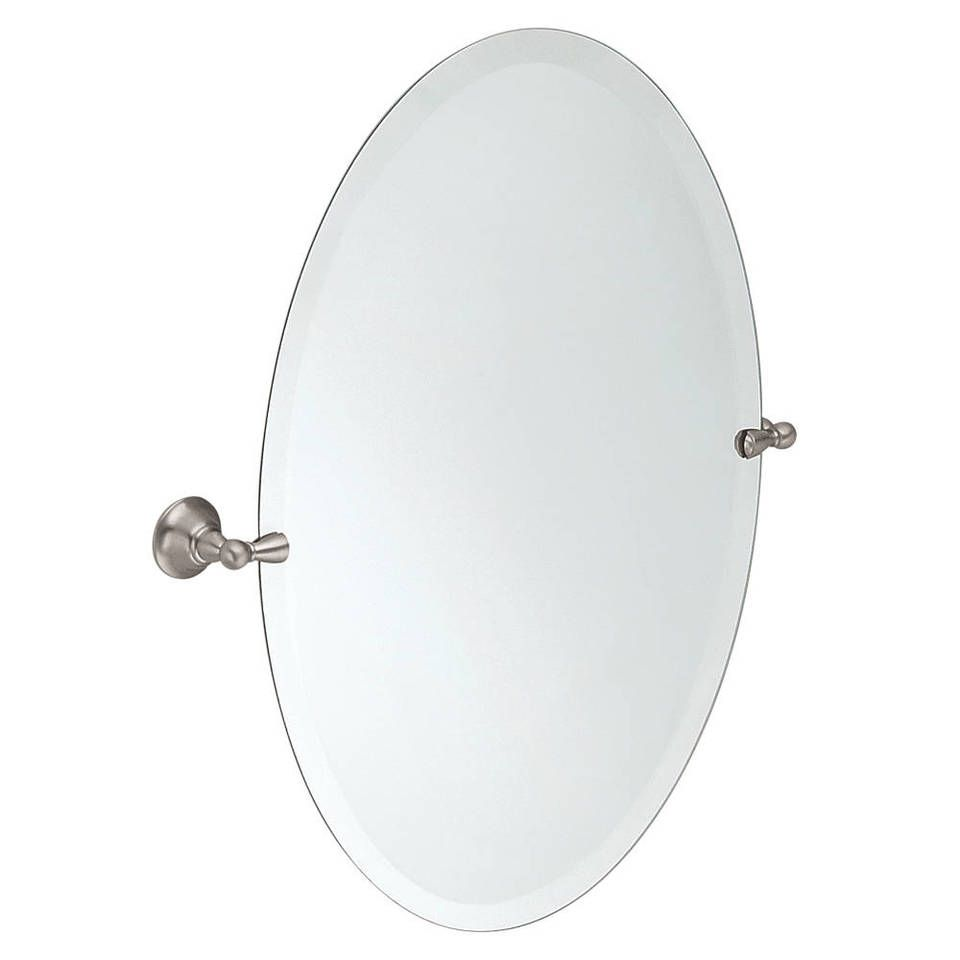 Shop Moen Sage 22.79-in x 26-in Oval Frameless Bathroom Mirror at ...
