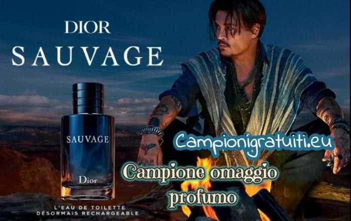 Campione Omaggio Dior Sauvage offerto da Sephora