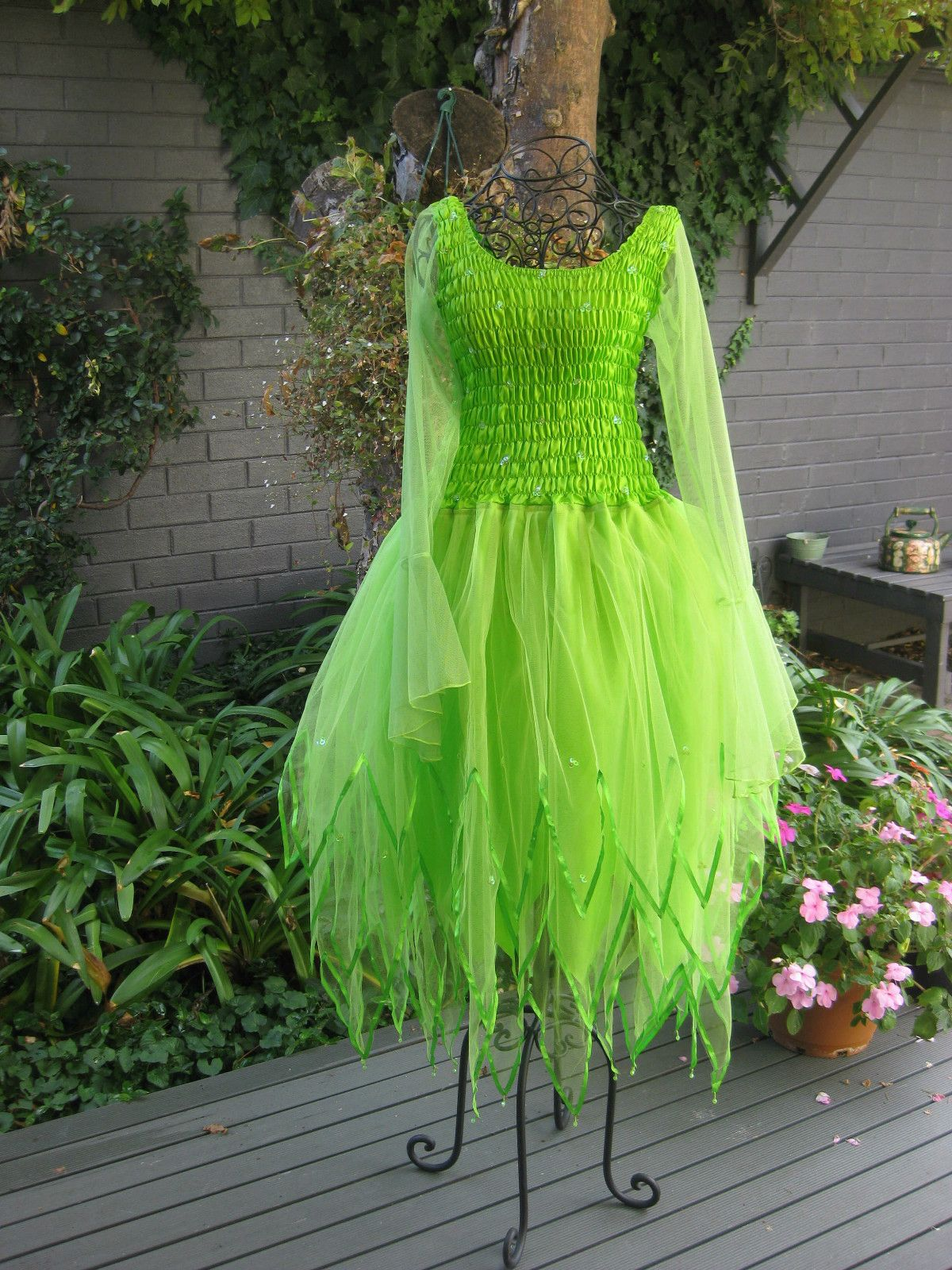 New Adult Tinkerbell Green PLUS SIZE Fairy Dress ~ Costume ~ Party ...