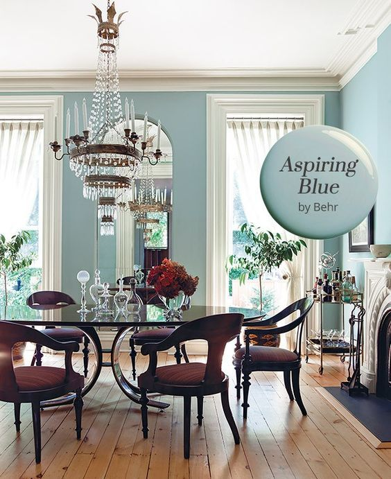 Casual Dining Rooms Decorating Ideas For A Soothing Interior: Paint Color Pick: Aspiring Blue By Behr