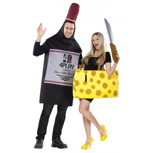 Cheese and Wine Costumes  TWO Costumes  sc 1 st  Pinterest & Cheese and Wine Costumes : TWO Costumes | Beer costume Matching ...