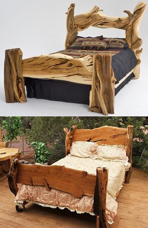 From Http Www Furniturefashion Com Cama De Troncos Muebles Rusticos Muebles Dormitorio