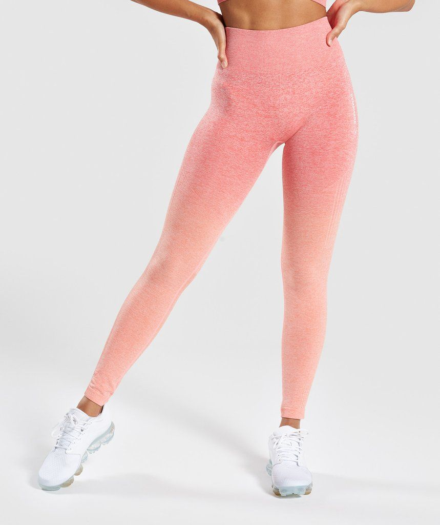 20378e44d50d91 Gymshark Ombre Seamless Leggings - Peach Coral in 2019 | Christmas ...