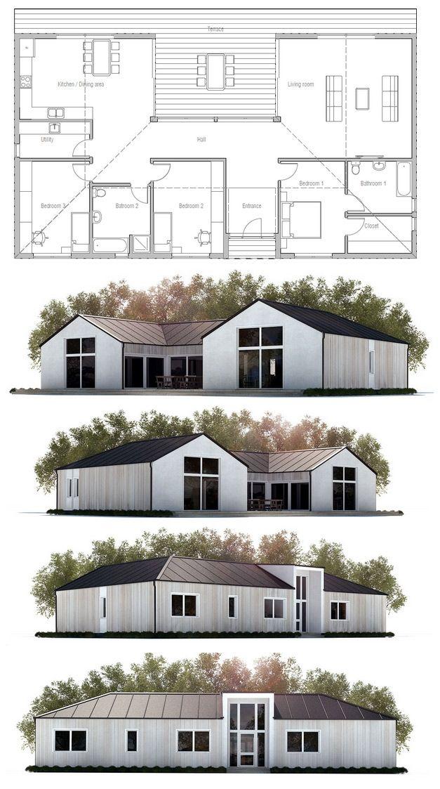 Small House Plan Modern Farmhouse Floor