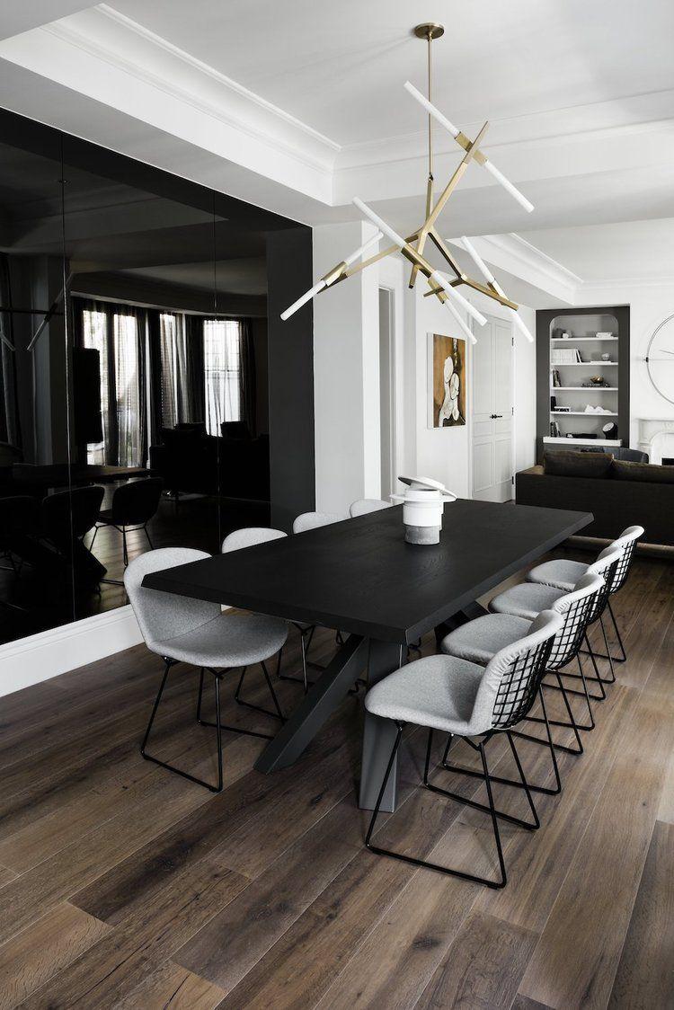 Interior Black Dining Room Dining Room Design Modern Big