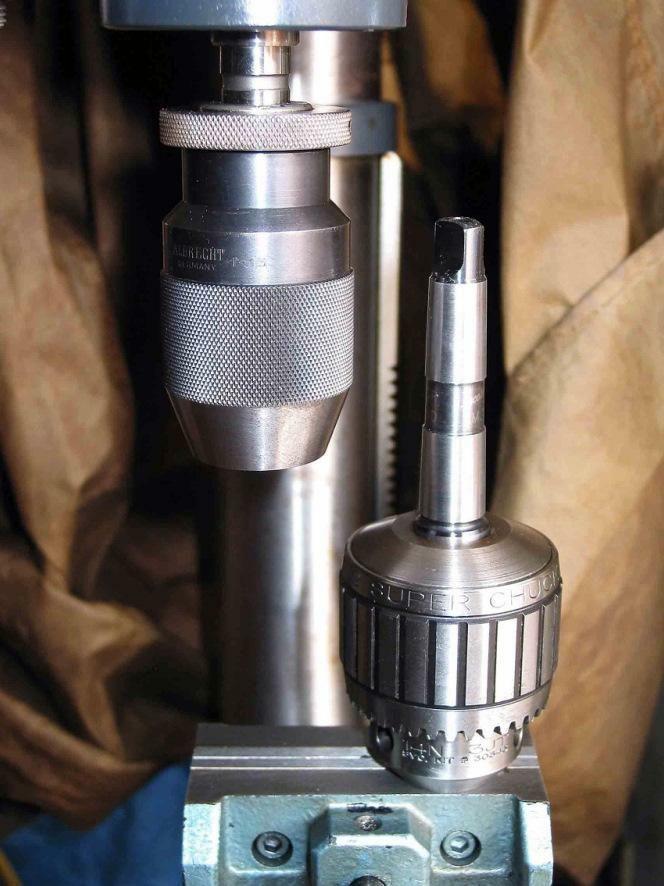 Two Precision Drill Chucks An Albrecht Keyless Chuck And A Jacobs Super Chuck 14n Drill Drill Press Metal Processing
