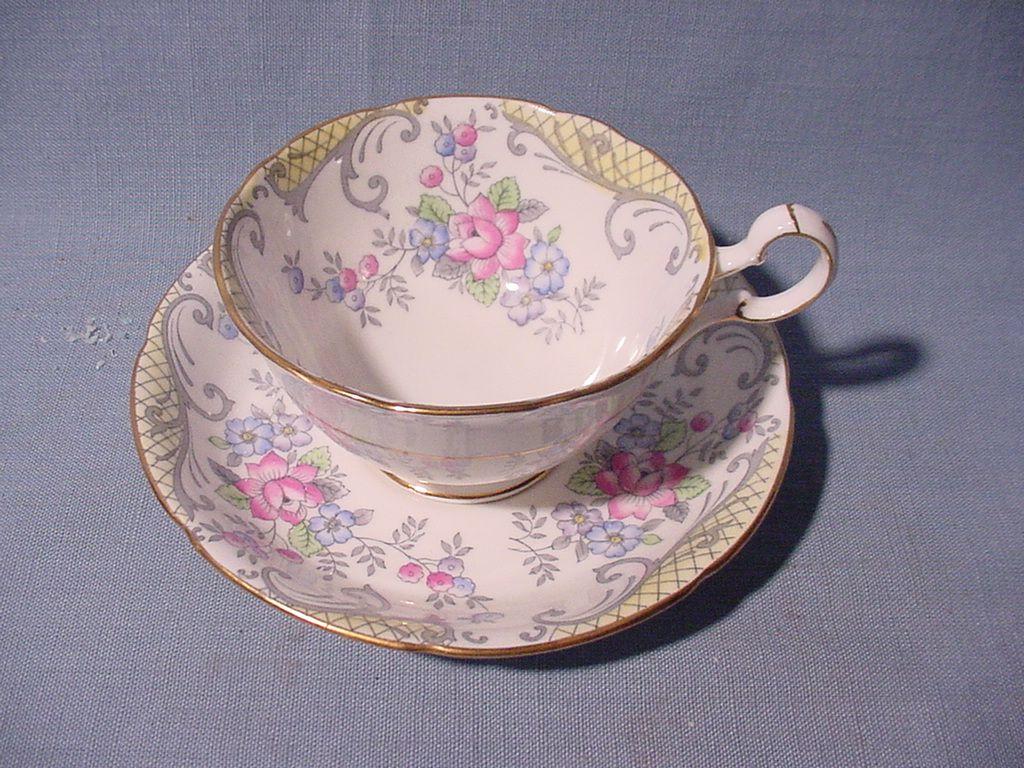 Most Expensive Fine China   Wonderful English Chintz Cup and Saucer Set   Cup and saucer set. Chintz china. Chintz