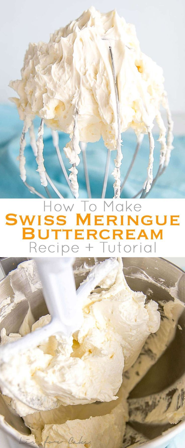 This tutorial on how to make Swiss Meringue buttercream is the only resource you'll need to make the smoothest, silkiest frosting! It includes step-by-step photos, a troubleshooting guide, and frequently asked questions. | livforcake.com via @livforcake #frostings