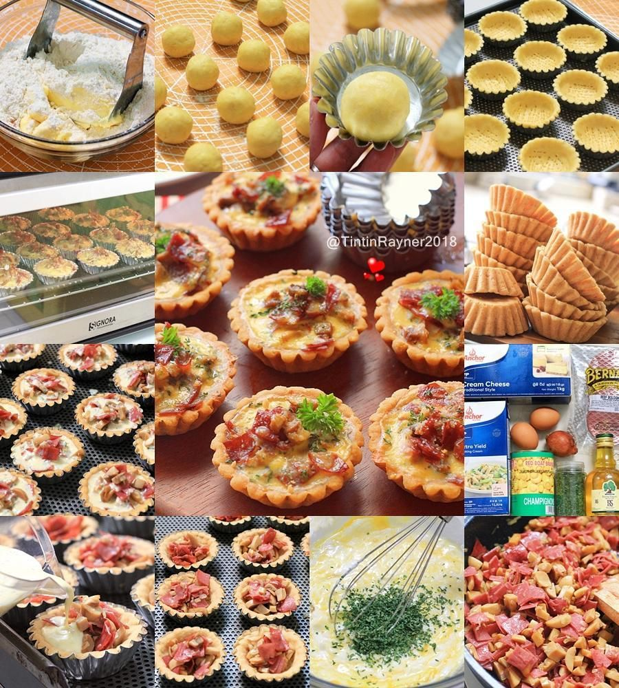 Mini Mushroom And Smoked Beef Quiche Savoury Pie Must Tryy Made By Tintinrayner Morninggg Mommies Sesuai Janji Posting Resepnya Pagi