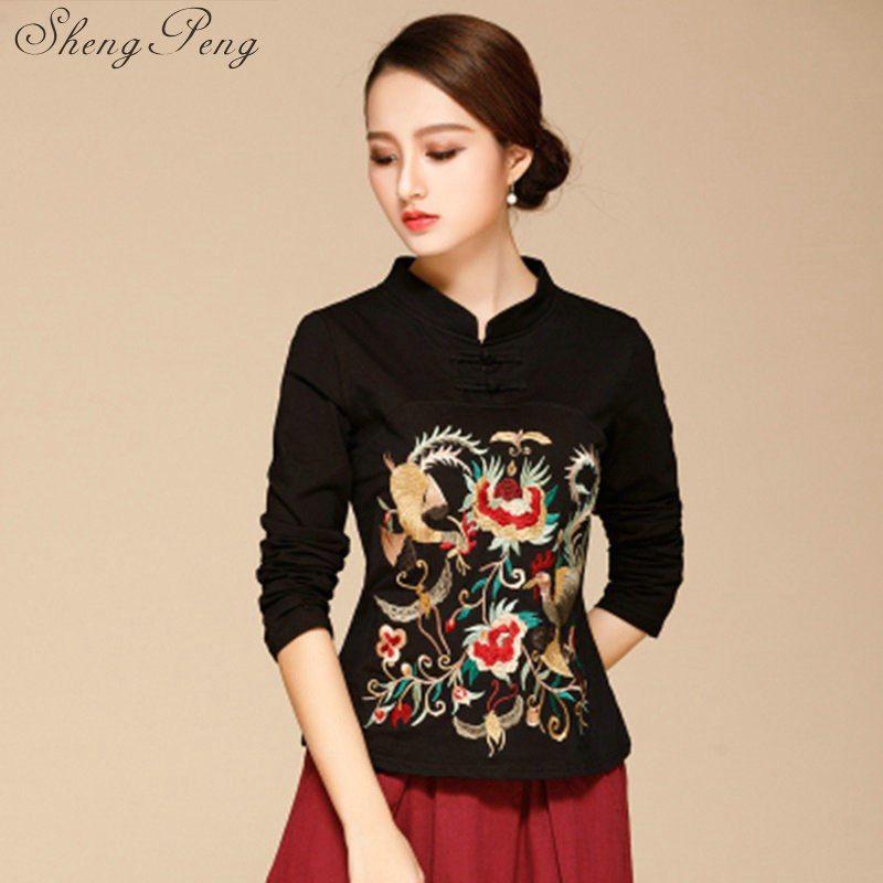 37404d73e4 Online Shop Cheongsam chinese style tops women fashion oriental cheongsam  top modern chinese dress shirt CC234
