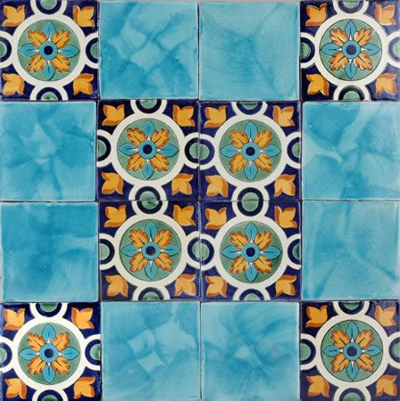 Spanish tile. This would make a beautiful backsplash.