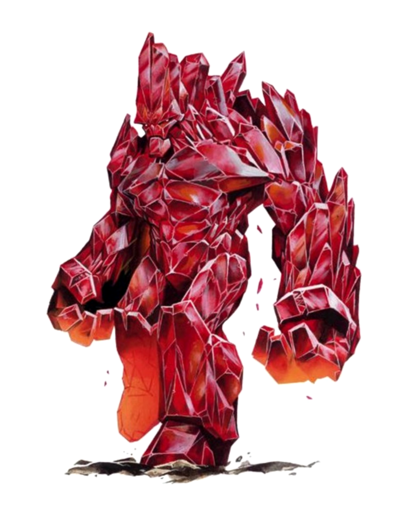 Red Crystal Golem Pathfinder Pfrpg Dnd Dd 35 5e 5th Ed D20