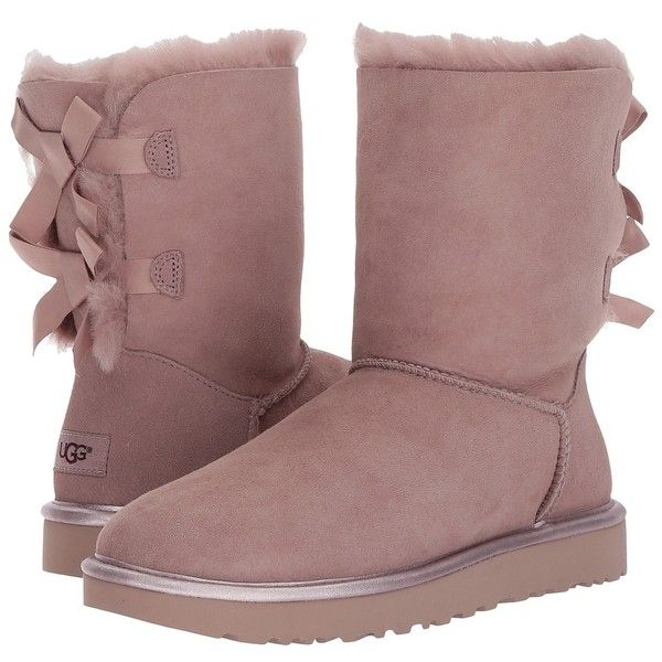 UGG Bailey Bow II Metallic (Dusk) Women's Boots ($205) ❤ liked on