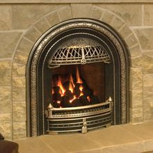 Closer View Of Valor Windsor Arch Gas Fireplace Fireplace