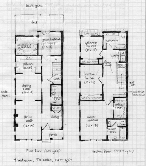Class Report One Truth For All House Plans Narrow Lot House Plans Cottage Style House Plans