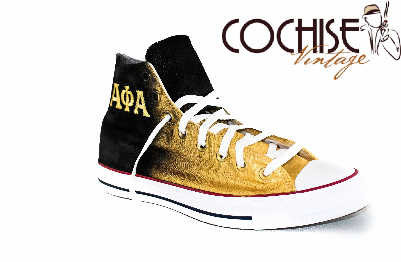 e0b2660be9e15 Alpha Phi Alpha Custom AirBrush Converse Chuck Taylors All Stars ...
