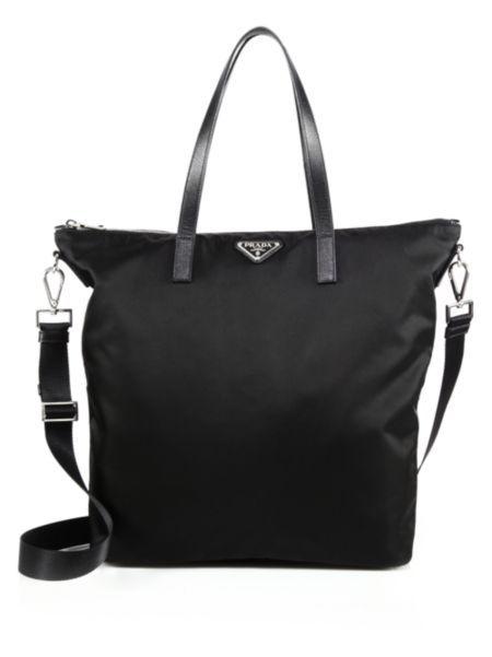 893e7268b4de Prada - Nylon   Leather Zip Tote