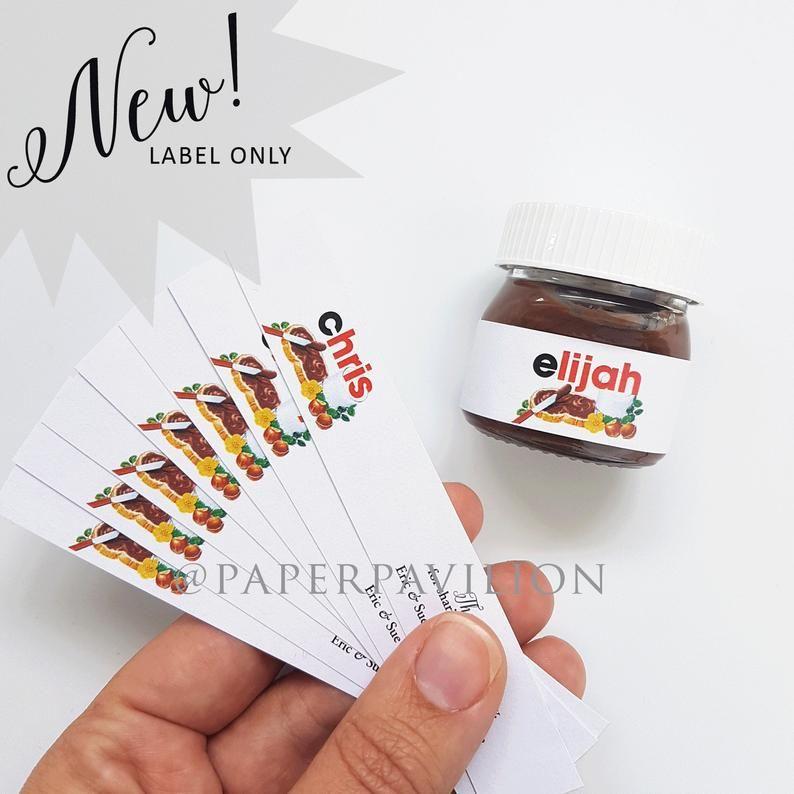 Mini Nutella Jar Label Personalised Mini Nutella Jar Sticker Mini Nutella Bonbonniere Mini Nutella Placecard 25g Jar Mini Nutella Label Mini Nutella Nutella Jar Nutella Label