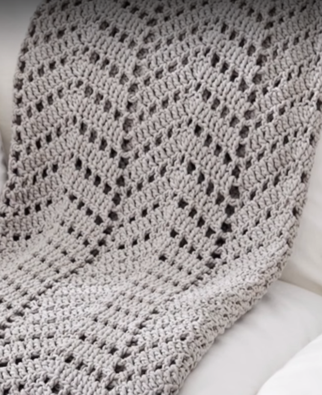 Crochet Ripples in the Sand Afghan + Tutorial | Frazada y Ganchillo