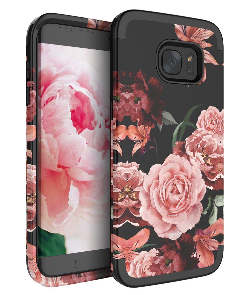 Rabemall Samsung Galaxy S7 Edge Case Unique Pretty Flowers For Girls Women Antifingerprint Samsung Galaxy S7 Edge Cases Galaxy S7 Cases Samsung Galaxy S7 Edge