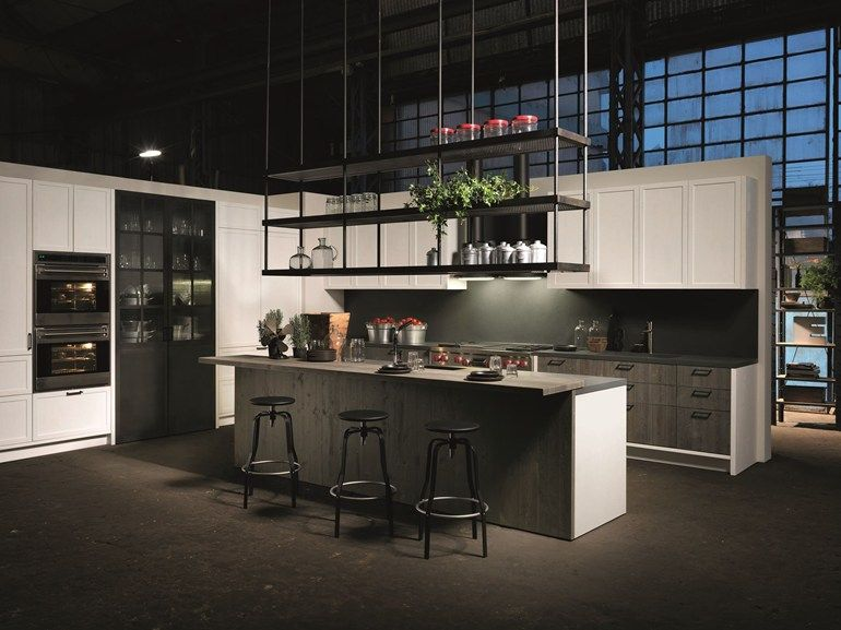 Kitchen with island without handles FACTORY   Kitchen with island ...