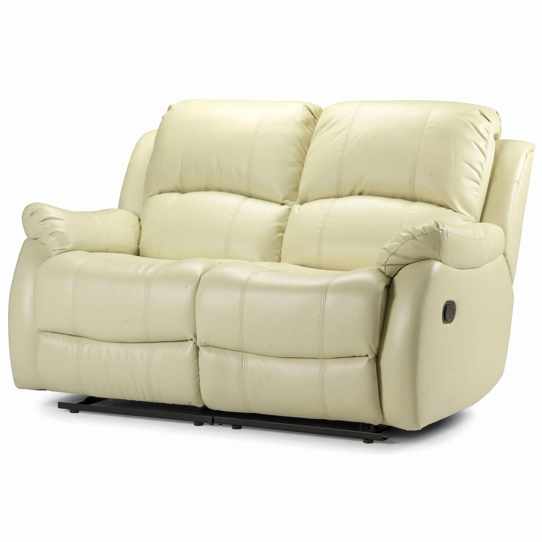 2 Seater Cream Leather Sofa Recliner In 2020 Cream Leather Sofa Reclining Sofa Sofa