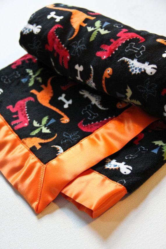 Dinosaur Baby Blanket Minky Dinosaur Blanket By