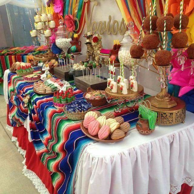 Mexican Fiesta Party Candy Desserts Table Mexican Party Decorations Mexican Fiesta Party Fiesta Birthday Party