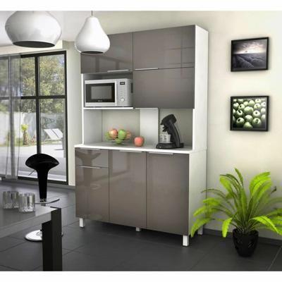 lova buffet de cuisine contemporain taupe brillant. Black Bedroom Furniture Sets. Home Design Ideas