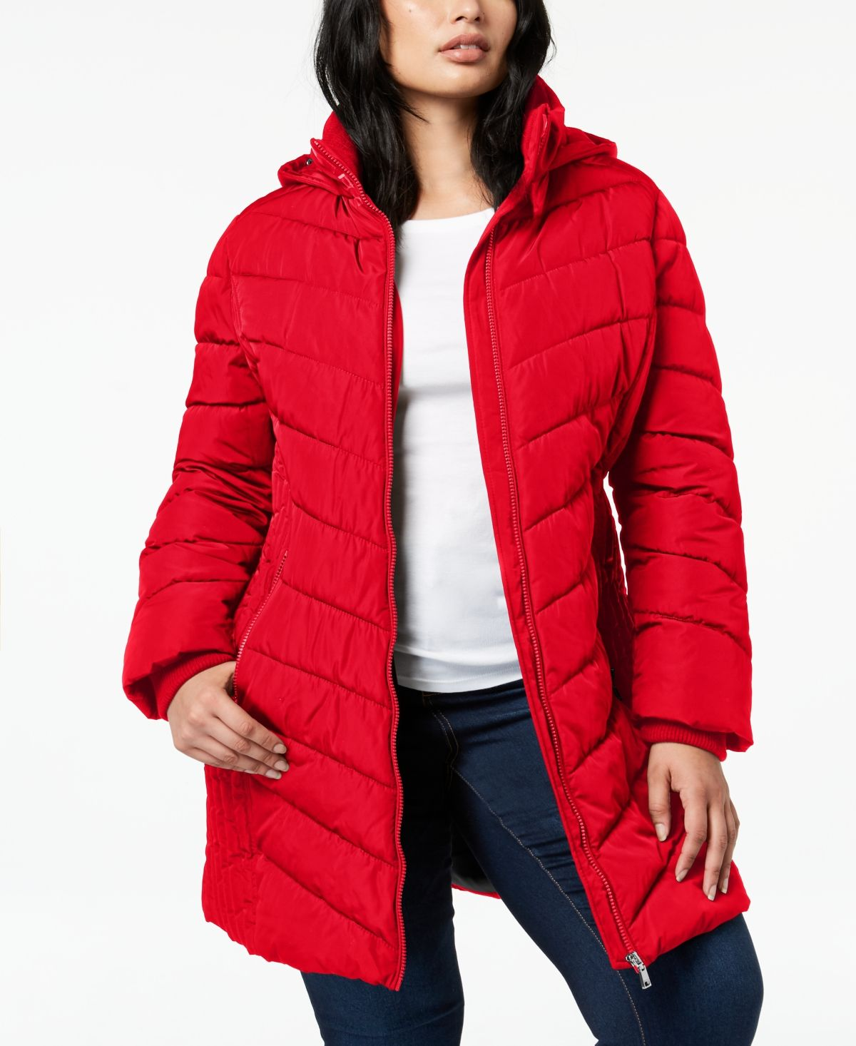 Tommy Hilfiger Plus Size Faux Fur Trim Hooded Water Resistant Puffer Coat Created For Macy S Crimson In 2021 Plus Size Puffer Coat Puffer Coat Big Clothes [ 1466 x 1200 Pixel ]