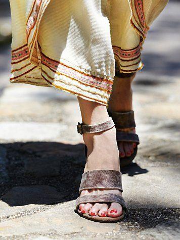 Free People Crowe Distressed Sandal