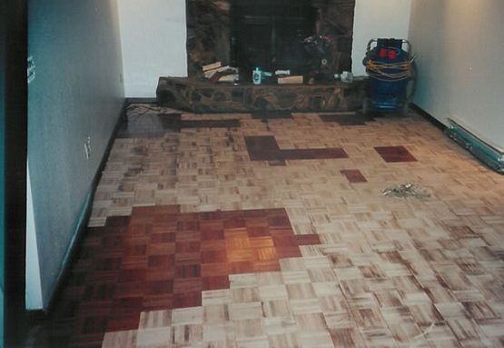Refinishing Parquet Flooring In Small Room Fireplace Parquet