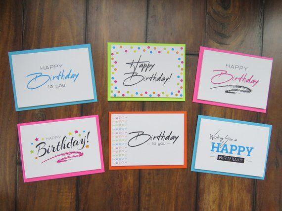 Birthday Card Set Boxed Greeting Cards Happy Birthday Etsy Happy Birthday Greetings Greeting Card Box Card Set Box