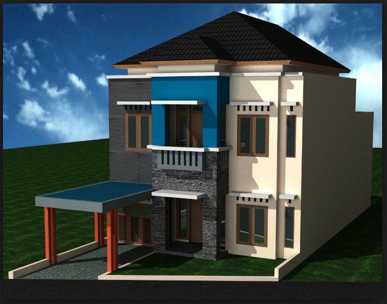 Foto Bentuk Rumah Minimalis Atap Limas Rumah 2 Lantai