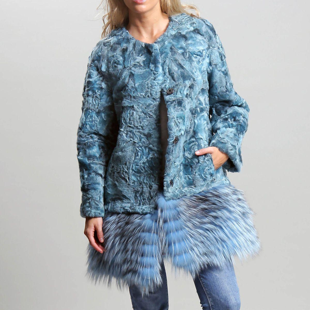Abrigo de astracan y zorro