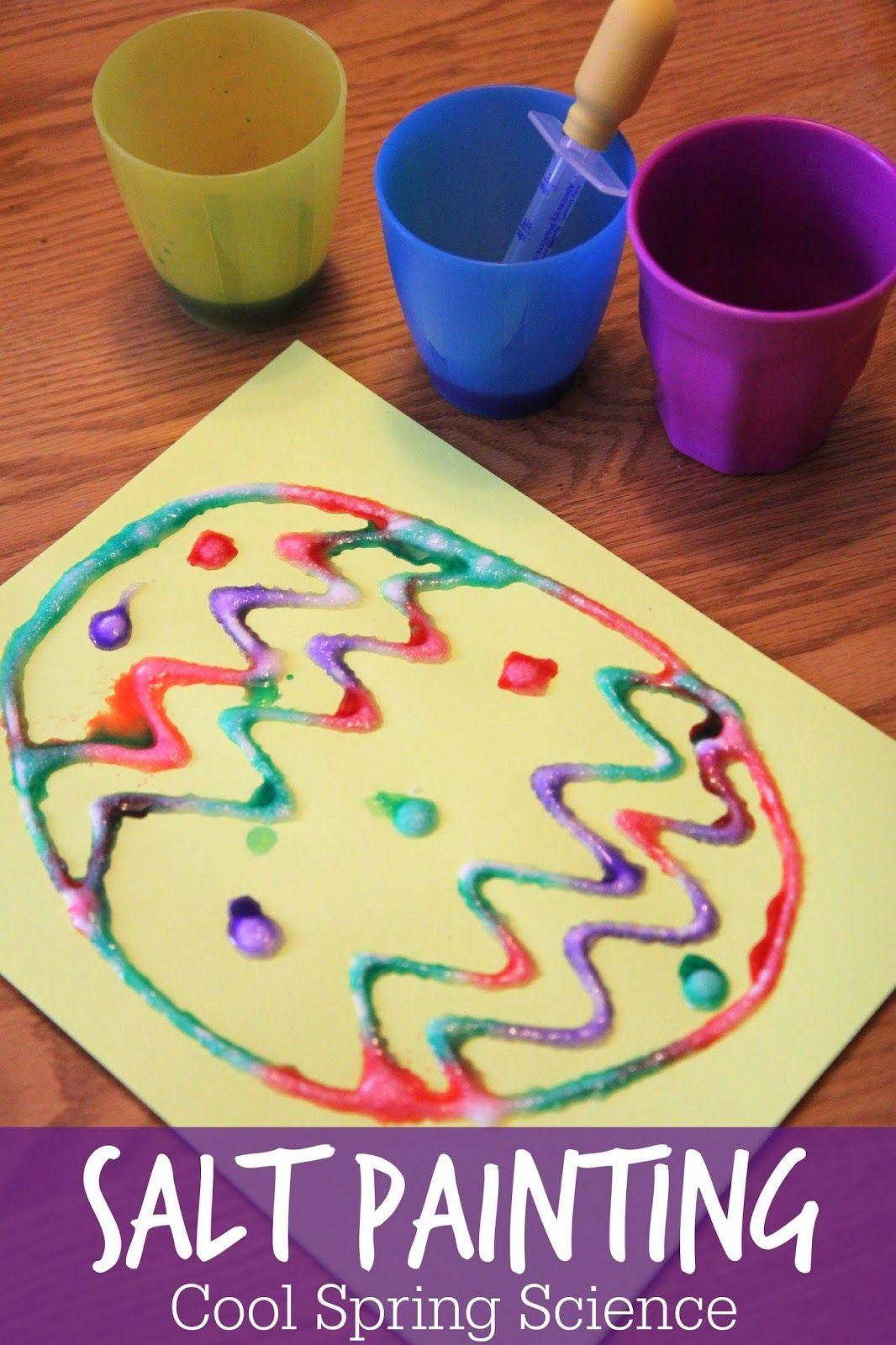 Cool Science Spring Salt Painting Easter Preschool Easter Crafts Preschool Crafts