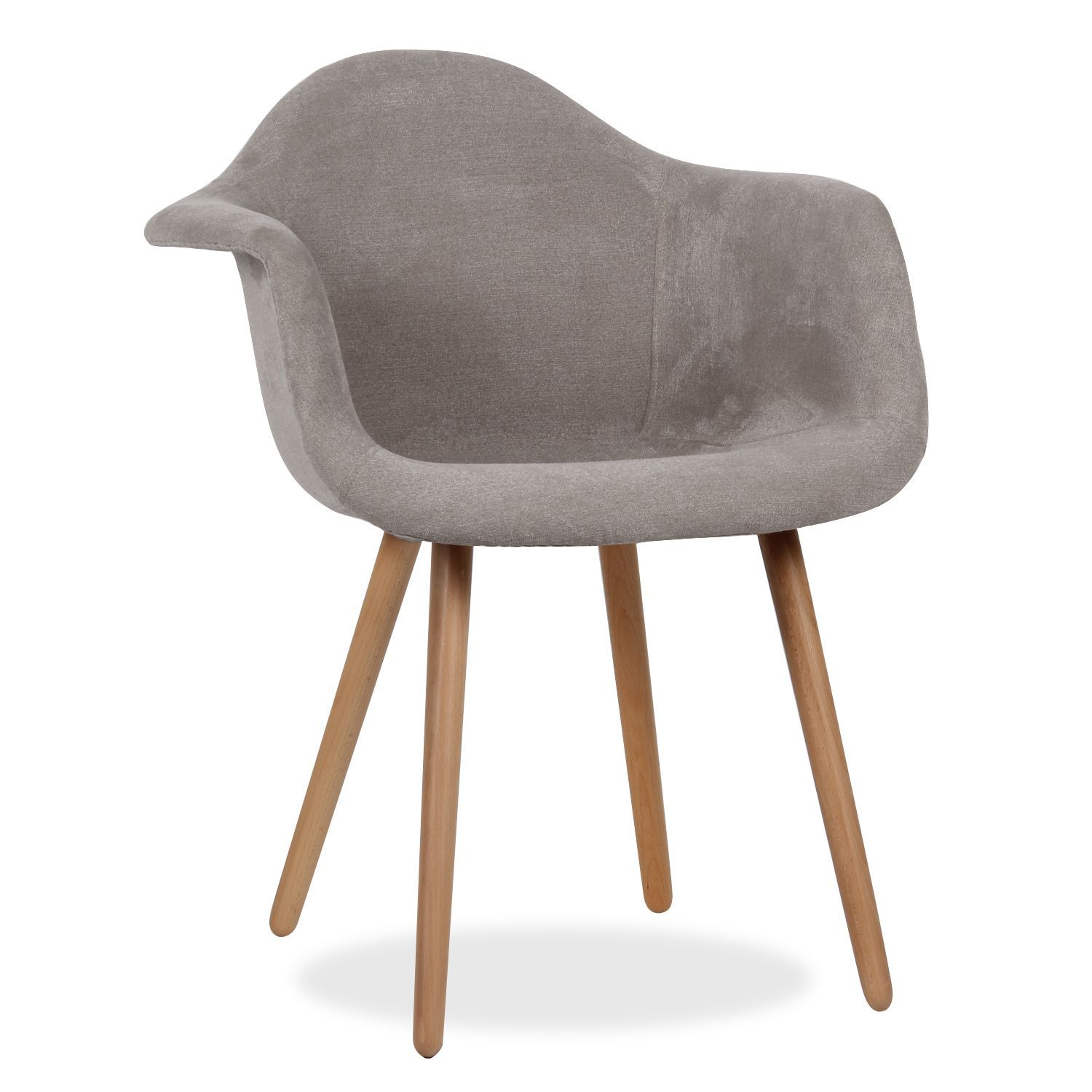 Inspiriert vom stuhl dsw von charles ray eames for Chaise wooden arms