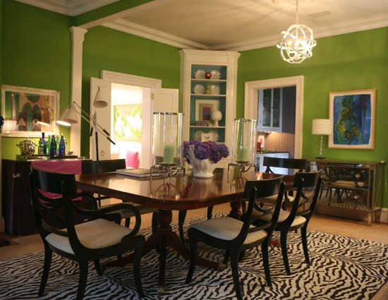 Green Dining Room  Eileen Kathryn Boyd  Home Inspiration Captivating Green Dining Room Walls Decorating Inspiration