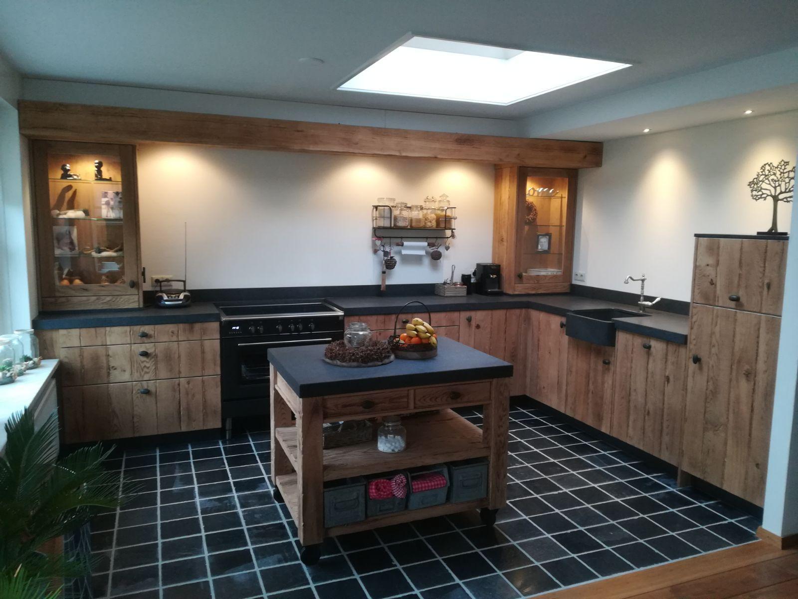 Keuken Eiken Landelijk : Massief eiken keuken landelijk granieten spoelbak mobiel keuken