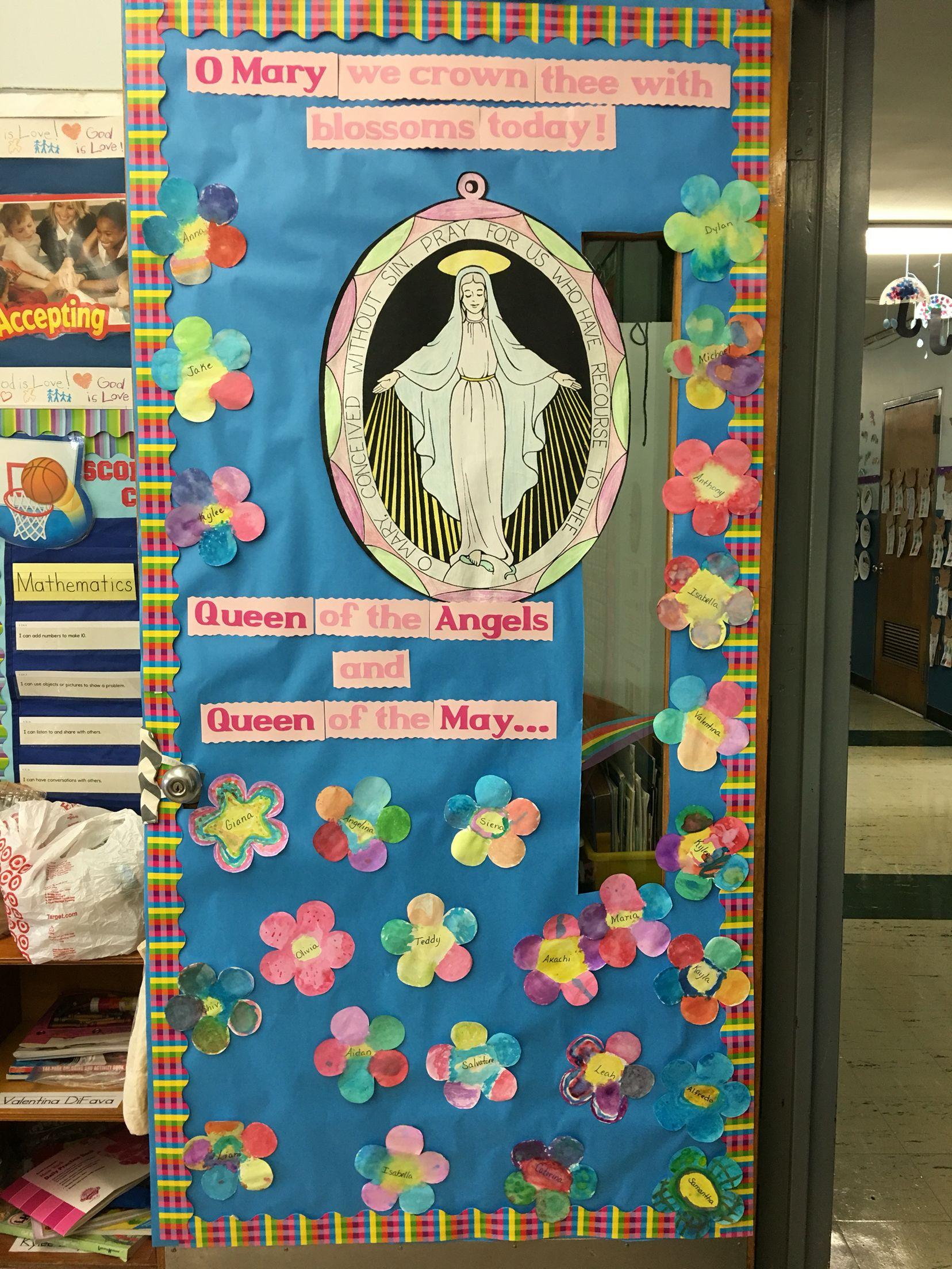 Mary Door Kindergarten Bulletin Boardsschool Door Decorationsschool
