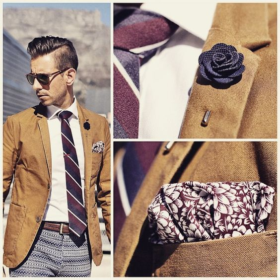 Lapel adornments to Up your game! #menswear