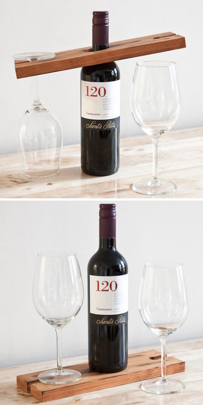Personal wine bar - gift for the host #product_design | Diy Projects ...